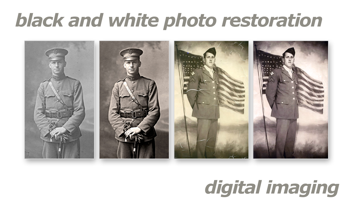Black And White Photo Restoration Slide