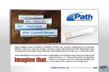 Path Technologies Nameplates