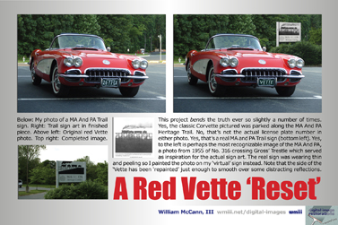 A red Vette reset.