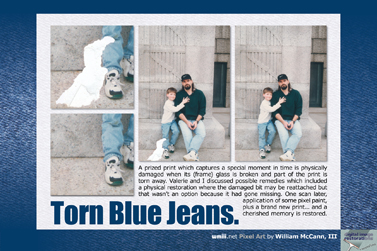 Torn Blue Jeans